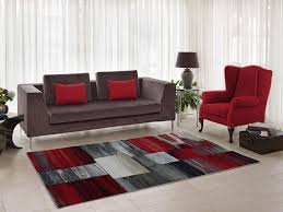red grey abstract area rug
