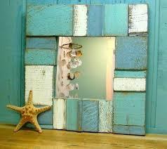 sea glass mirrors sea glass blues weathered wood wall mirror sea glass mirror home depot