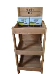 wooden free standing display unit