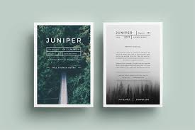 Flyer Samples Templates Delectable J U N I P E R Flyer Template Flyer Templates Creative Market
