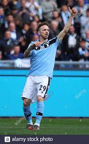 Manuel Lazzari of Lazio gestures during the Italian championship Serie A  football match between SS Lazio and Spal 2013 on February 02, 2020 at  Stadio Olimpico in Rome, Italy - Photo Federico