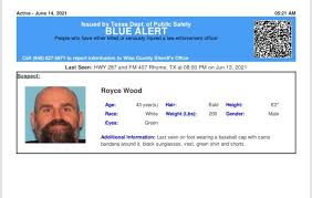 It was created to let residents across the state know when an offender who killed or. White Settlement Fire Department Active Blue Alert For Royce Wood From Rhome Tx On 06 13 2021 Texas Dps Has Issued A Blue Alert On Behalf Of The Wise County Sheriff Office The