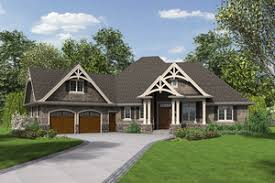 Craftsman House Plans   Houseplans comFront view   square foot Craftsman home