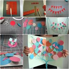 happy birthday poster ideas how to diy creative happy birthday banner and balloon card