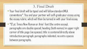 tkam partner essay optional a partner write a paragraph  final draft your final draft will be typed and will follow standard mla conventions