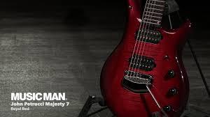 Shop all ernie ball music man. Music Man John Petrucci Majesty 7 String Royal Red Gear4music Demo Youtube