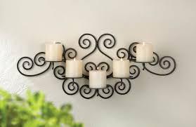 classic large black iron scroll swirl candelabra ball candle holder