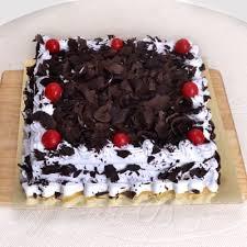 Square Black Forest Cake 1 Kg Order Cakes Onlinehd1075289