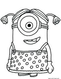 Coloring Pages Online Girl Coloring Pages Free Minion Girls Coloring