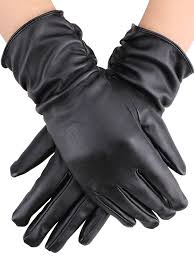 simplicity simplicity fashion women s black faux leather gloves warm com