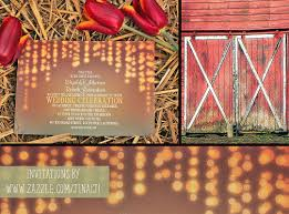 String Of Lights Rustic Wedding Invitation String Of Lights Barn Wedding Invitation Need Wedding Idea
