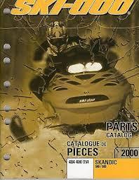 manuals ski doo skandic trainersme 2000 ski doo skandic 380 500 parts manual p n 484 400 051 405