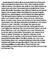 police officer essay introductionpolice officer essay