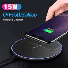 15W QI hızlı şarj kablosuz hızlı şarj Usb tip C 10W QC 3.0 şarj için iPhone  11 Pro XS XR X 8 Samsung S10 S9 Xiao mi mi 9|Kablosuz Şarj Cihazları