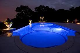 Night Lights Fiber Optic Pools LED Landscape Lighting DesignNJ Inspiration Swimming Pool Lighting Design