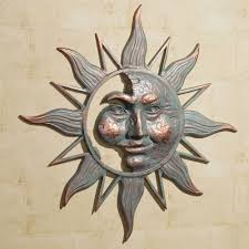 touch to zoom on outdoor metal wall art decor and sculptures with half face sun indoor outdoor metal wall art