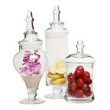 Decorative Glass Bottles Online India Amazon Designer Clear Glass Apothecary Jars 60 Piece Set 2