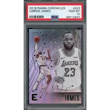 No matter the autograph card, collectors should plan to start. Lebron James 2019 Panini Chronicles Basketball Card 223 Graded Psa 10 Gem Mint
