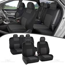charcoal car seat covers for sedan suv truck set split bench option 5 headrests 826942126932