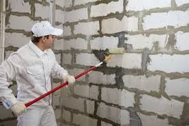 finish the walls of brick or drywall