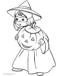 Small Picture Kids Halloween Coloring Pages 001