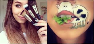 ic book character makeup artist turns her lips into cartoon characters photos