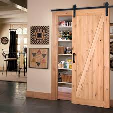 interior barn door hardware. Z-Bar Knotty Alder Wood Interior Barn Door Slab With Sliding Hardware Kit-47613 - The Home Depot E