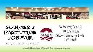 Summer Seasonal Jobs Summer And Part Time Job Fair Career Services Uw La Crosse