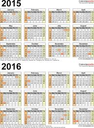 two year calender 2015 2016 calendar free printable two year pdf calendars bright