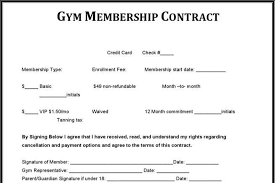 14 Gym Contract Template Free Download