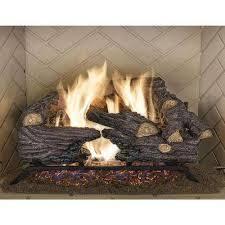 split oak vented natural gas log set