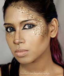 print color on professional transfer quality temporary tattoo eyeshadow leopard makeup