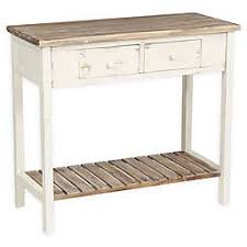 White sofa table Hallway Madison Park 2drawer Vintage Console Table In Off White Bed Bath Beyond Console Tables Bed Bath Beyond