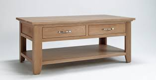 sherwood oak coffee table with  drawers  off