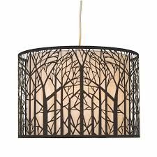 forrest laser cut tree pendant light