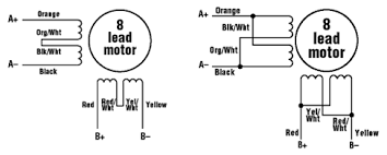 stepper motors parallel connection diagram