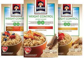 weight control satisfy your hunger with quaker weight control select starts instant oatmeal