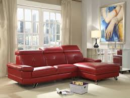 faux leather sectional. Aeryn Red Faux Leather Sectional Sofa With Chaise R
