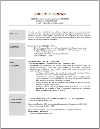 Good Objectives For Resume 9 Objective For Software Engineer Resume Proposal Sample