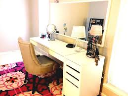 ikea micke desk and drawer as white vanity set desks minimalist design ideas dressing table idea the space using the boldest shade in the second floor chic ikea micke desk white