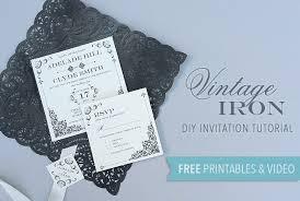 Free Printable Vintage Iron Wedding Invitation And Pocket