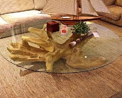 ... Large-size of Noble Glass Coffee Table As Wells As Round Along With Tree  Base ...