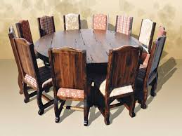 round rustic dining table ideas and awesome room tables seats 8