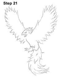 Drawings Of Phoenix Drawing Of A Phoenix Rome Fontanacountryinn Com