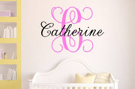 custom name wall decal baby nursery baby shower gift wall decal childs room decor nursery decor nursery decoration personalized decal