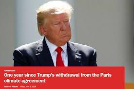 「trump behavior agaist Paris treaty」の画像検索結果