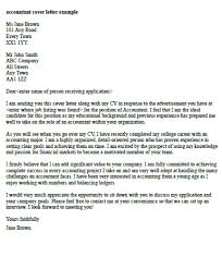 accountant cover letter example cover letter examples accounting