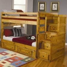 Solid wood bunk beds twin over twin