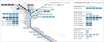 vietnamese railway map stations routes (2017) northern vietnam Northern Train Line Map vietnam map train railway northern train line map