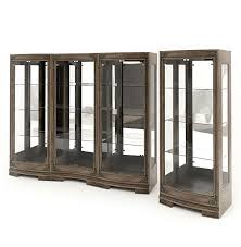 glass display case. Wood And Glass Display Cabinets 3D Model Case